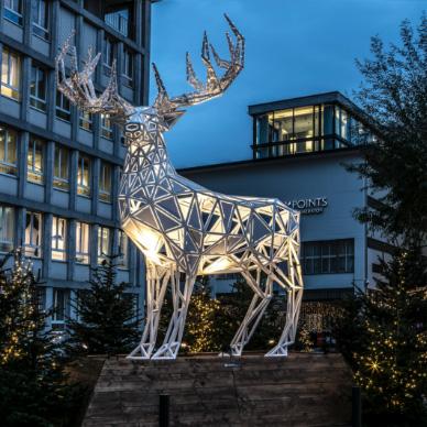 Sihlcity Weihnachten Winter Wonderland Hirsch (FR)