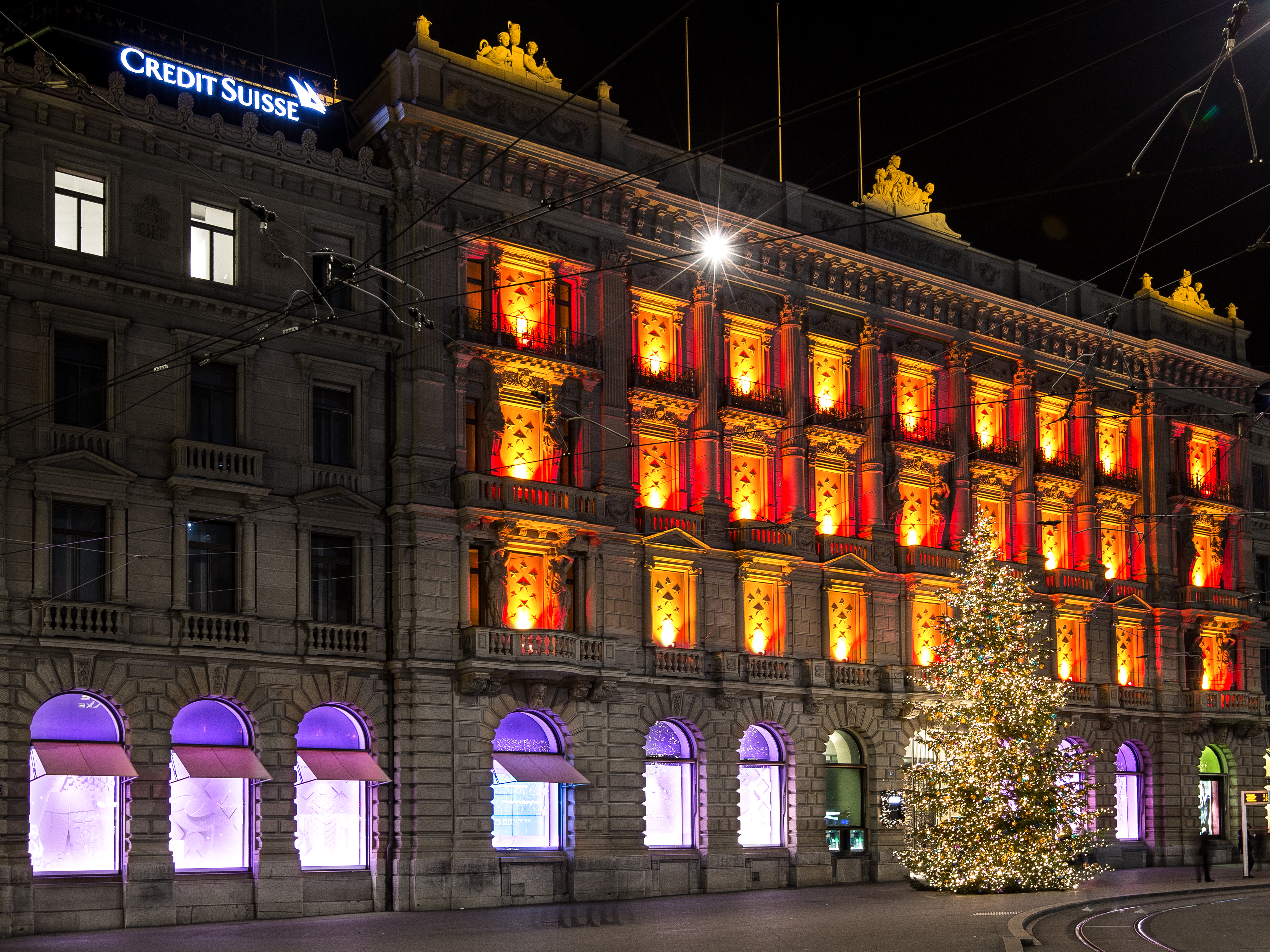 Credit Suisse Schaufenster Xmas 2015