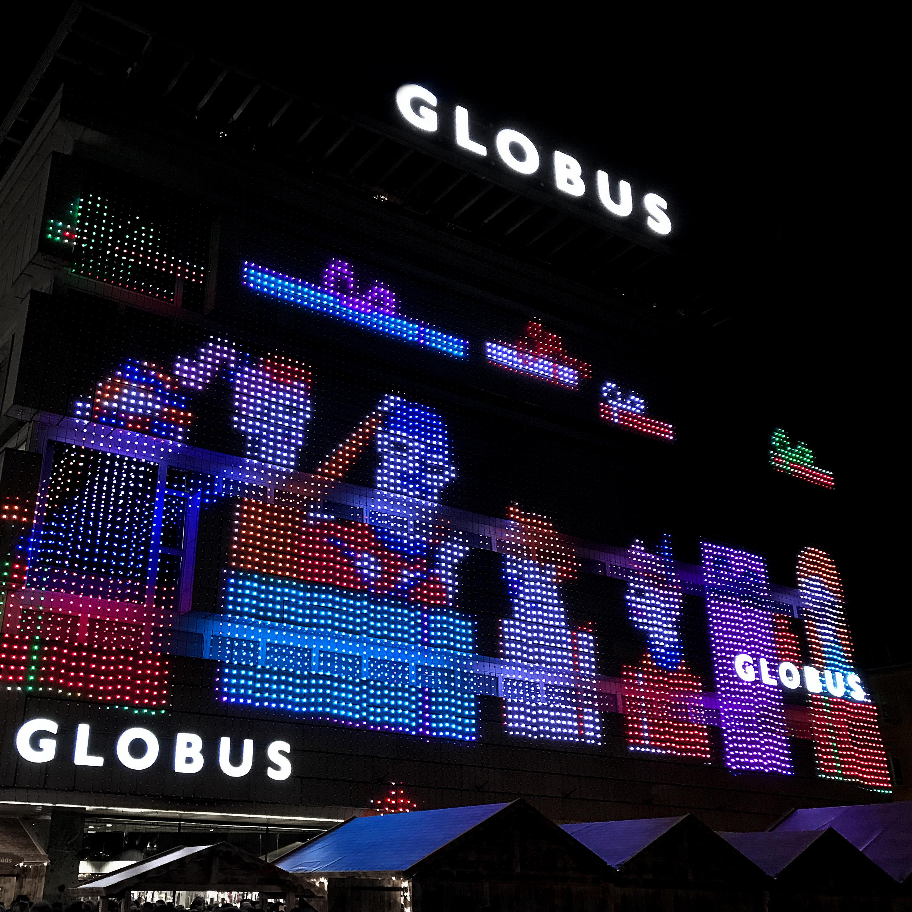 Globus Weihnachtsbeleuchtung