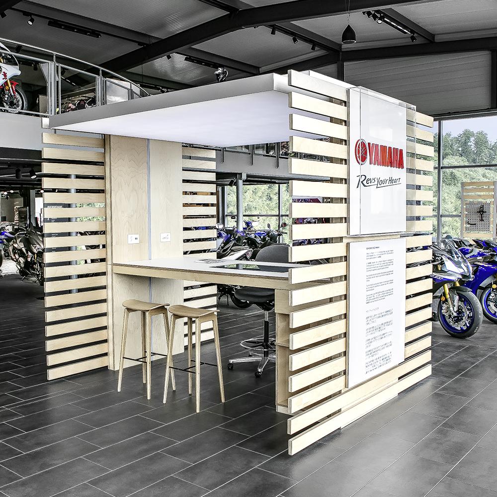 Hostettler Raumaufteilung im Motorradshop
