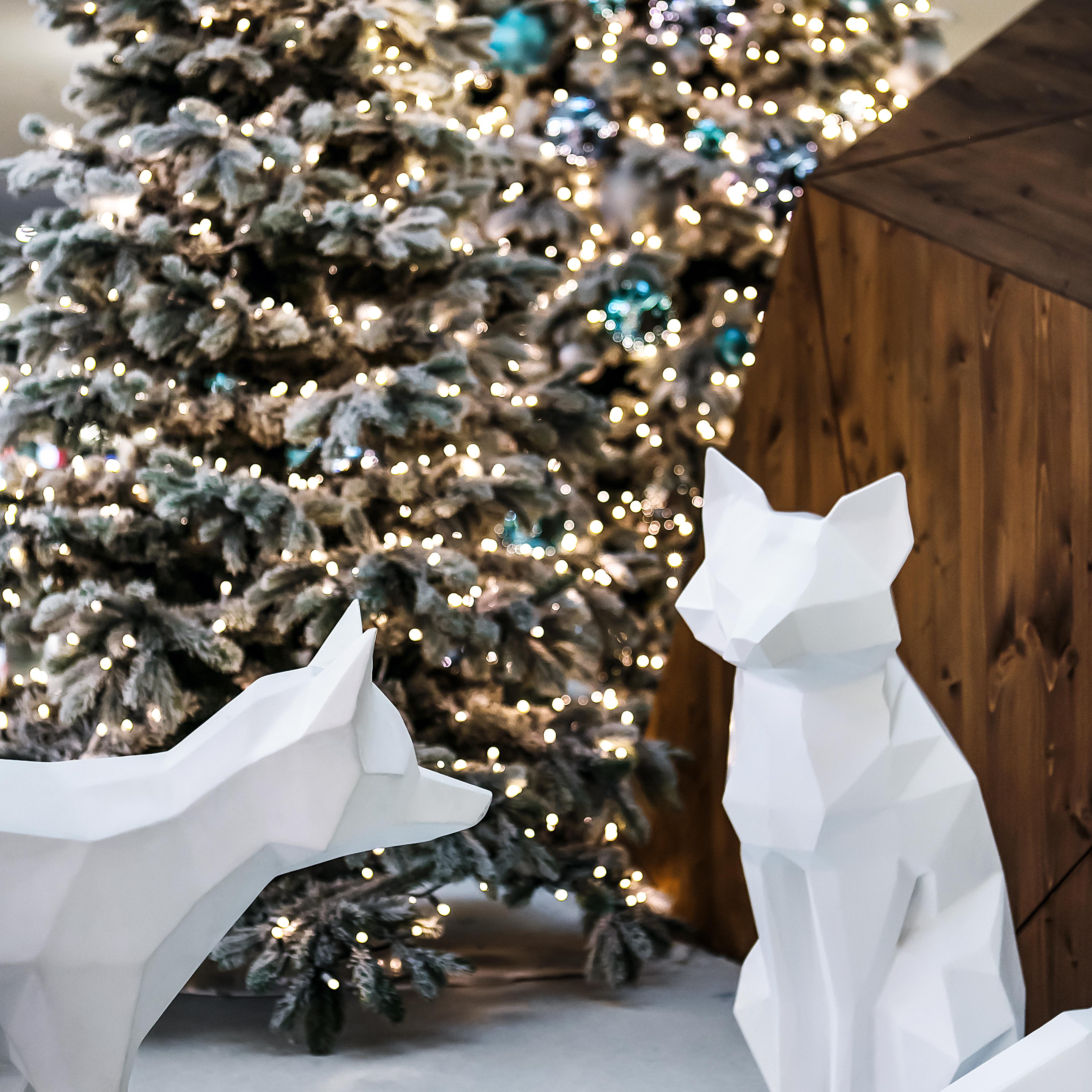 Sihlcity Weihnachten Winter Wonderland Füchse