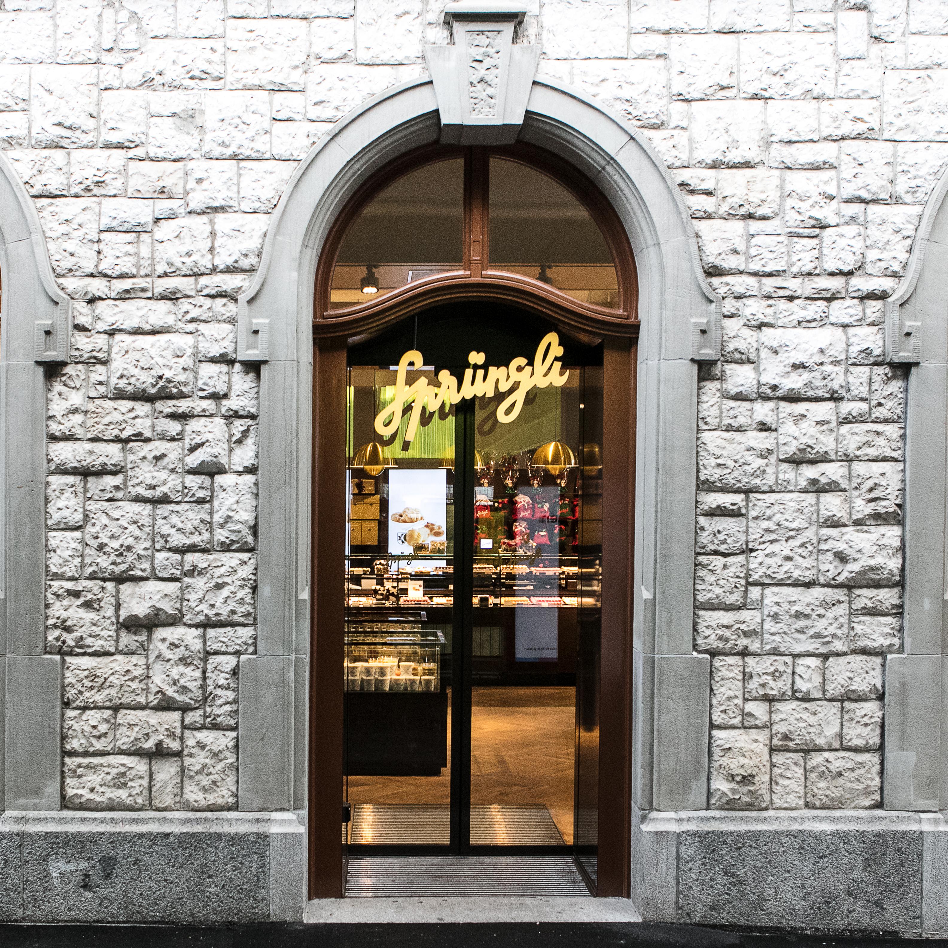 Sprüngli Oerlikon Eingang