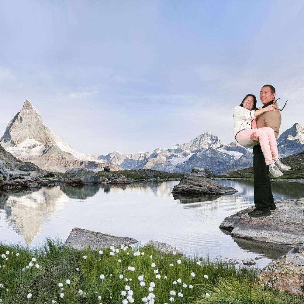 Matterhorn Gotthard Bahn Gornergrat Greenscreen