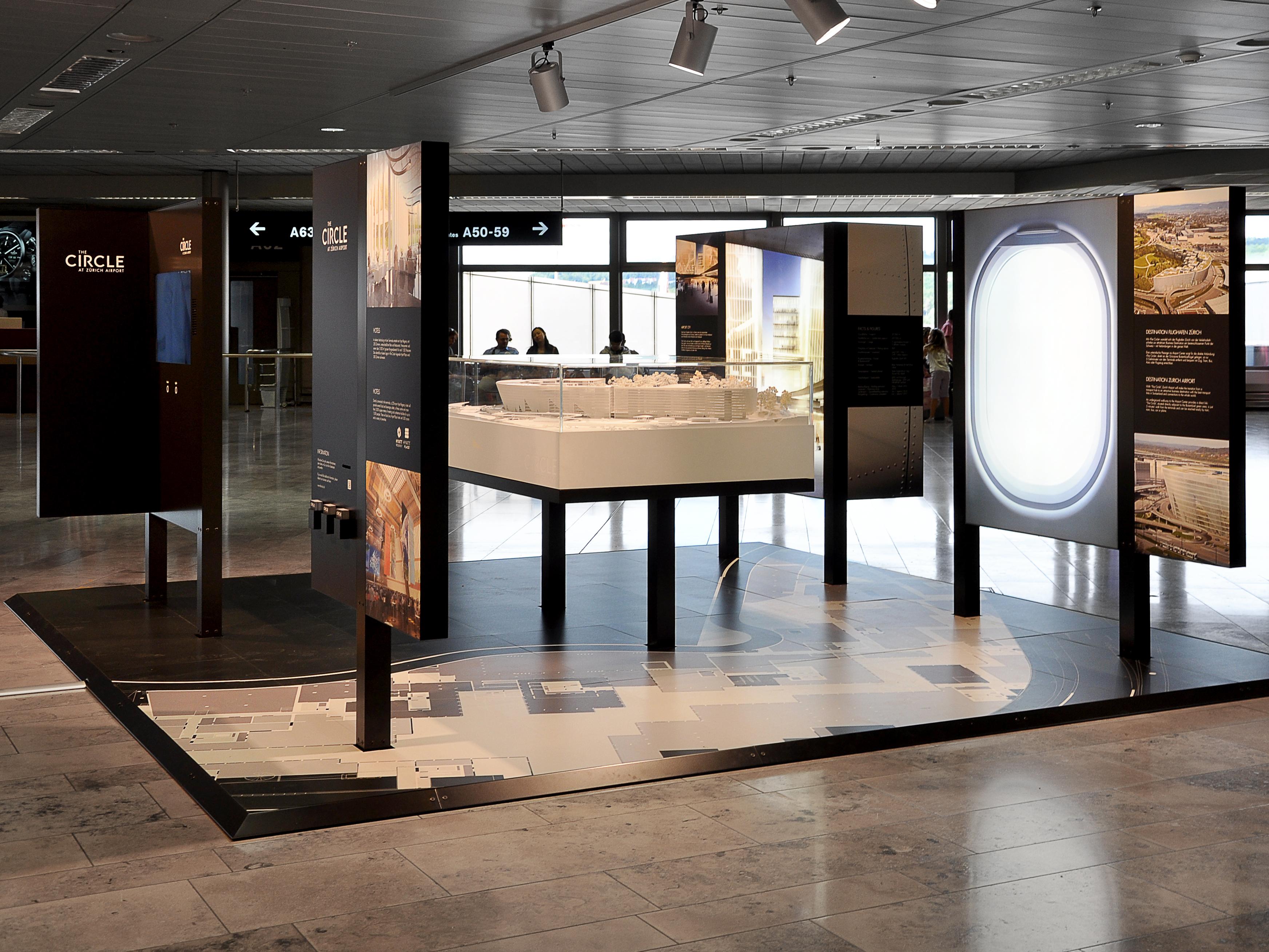 Flughafen Zürich The Circle Ausstellung