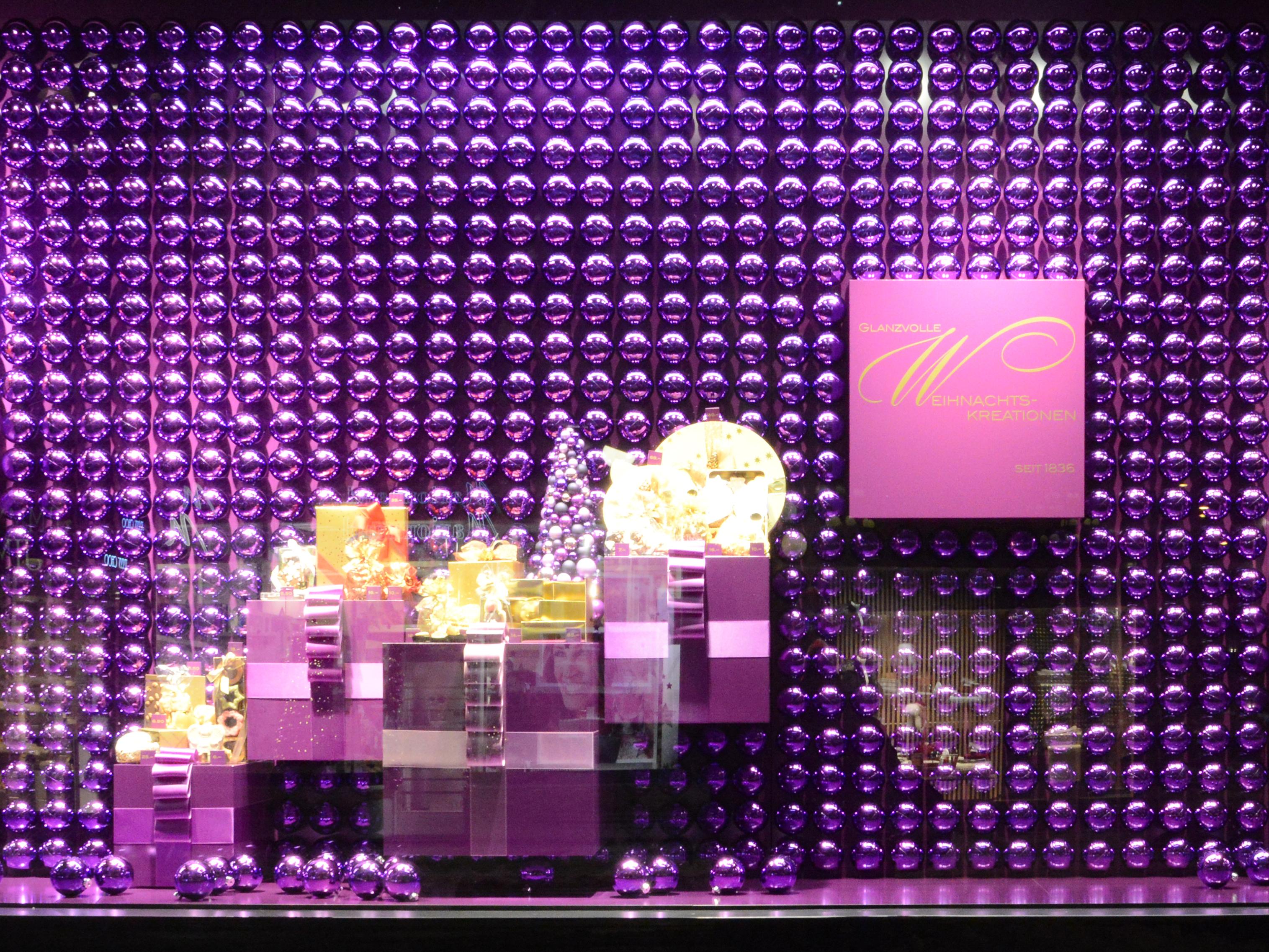 Confiserie Spruengli Schaufenster Xmas 2012