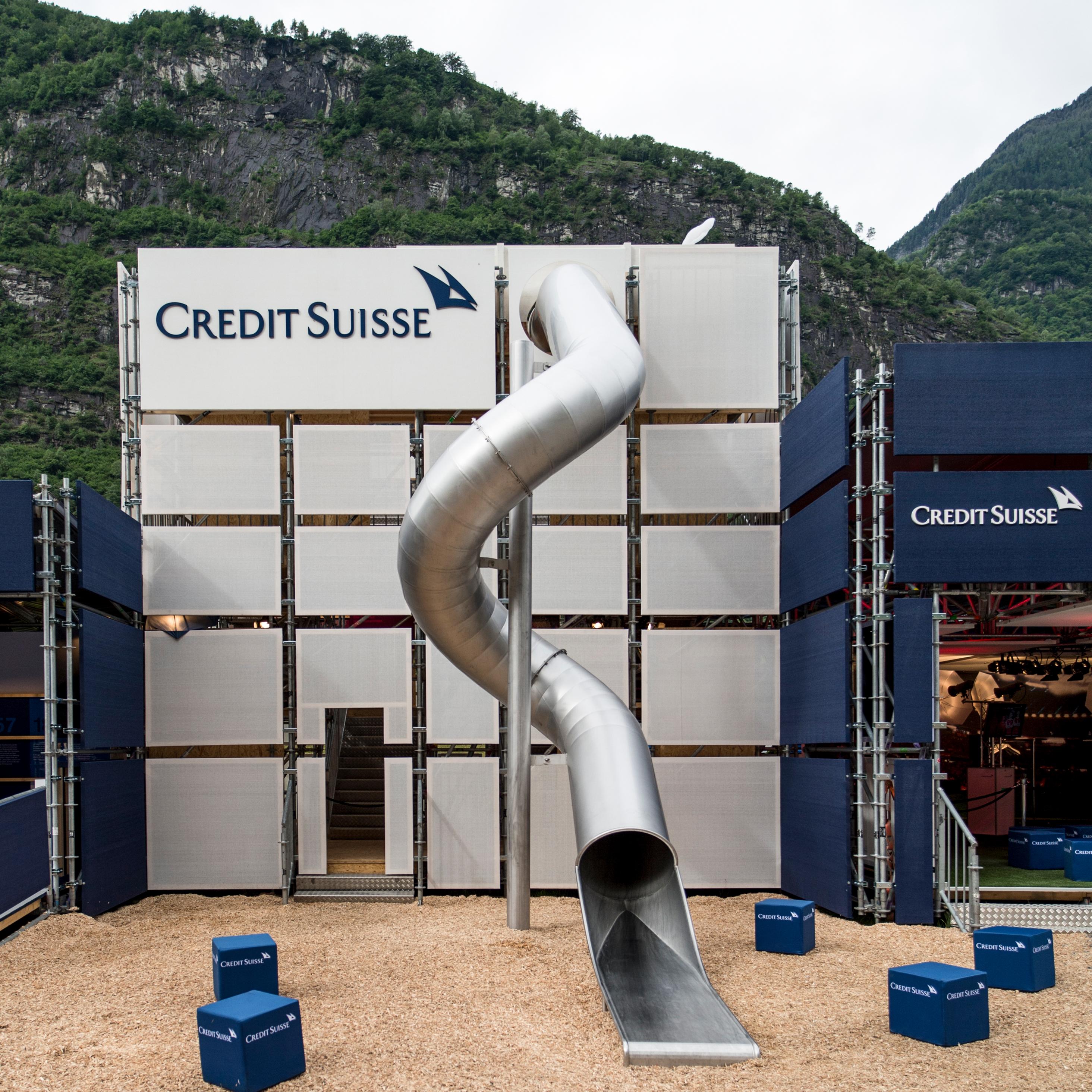 Credit Suisse Eröffnung Gottardo Rutsche
