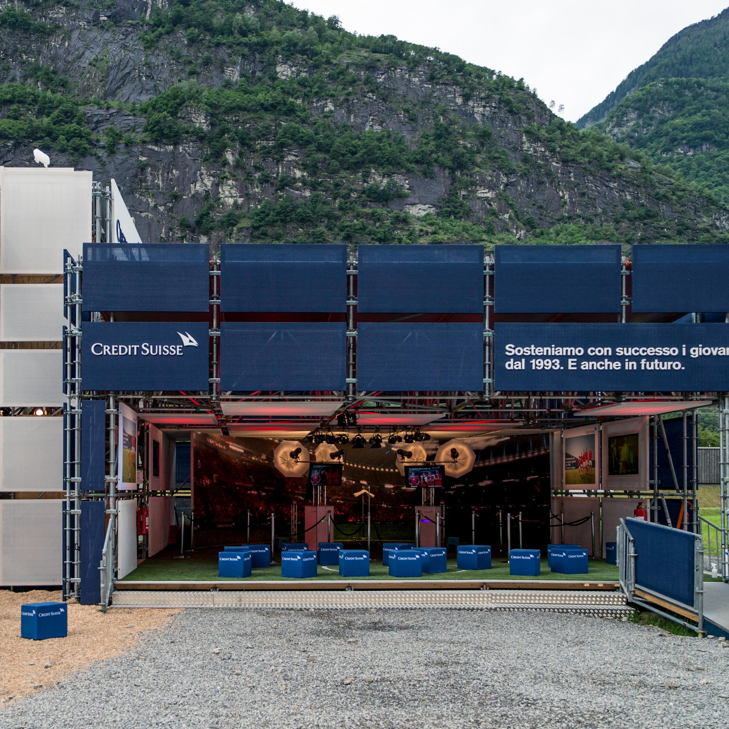 Credit Suisse Eröffnung Gottardo Fotoshooting