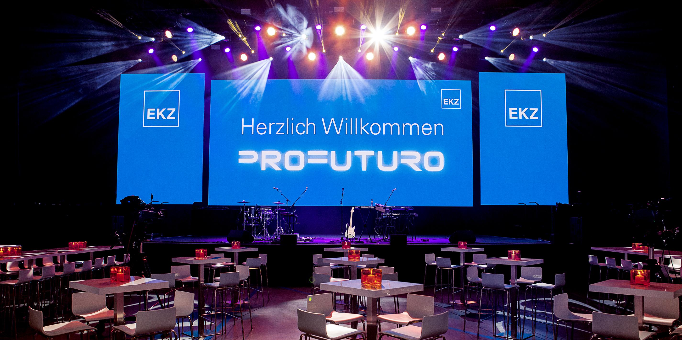 EKZ Mitarbeiterfest Corporate Event Bühne