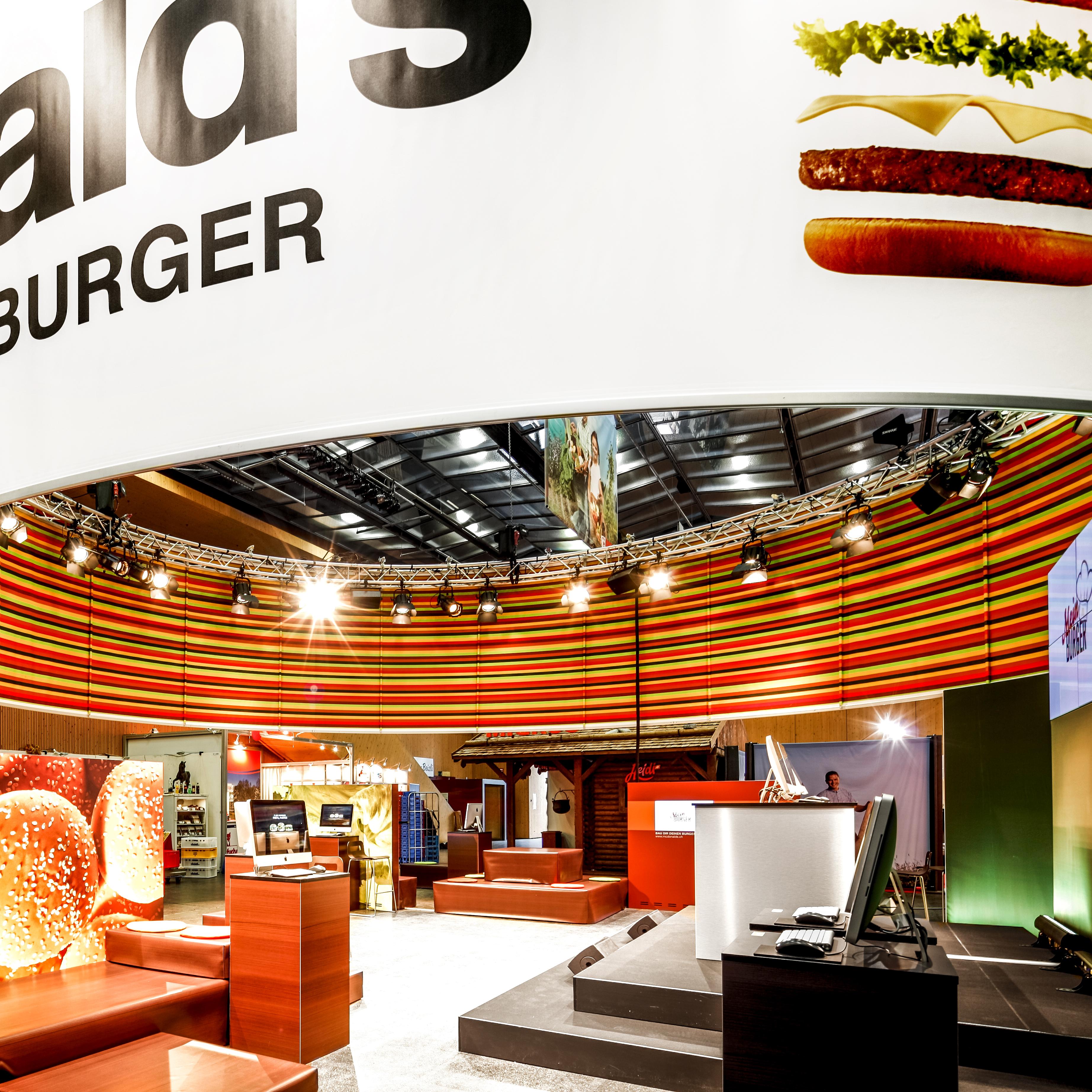 McDonald's Messekonzept Innenansicht