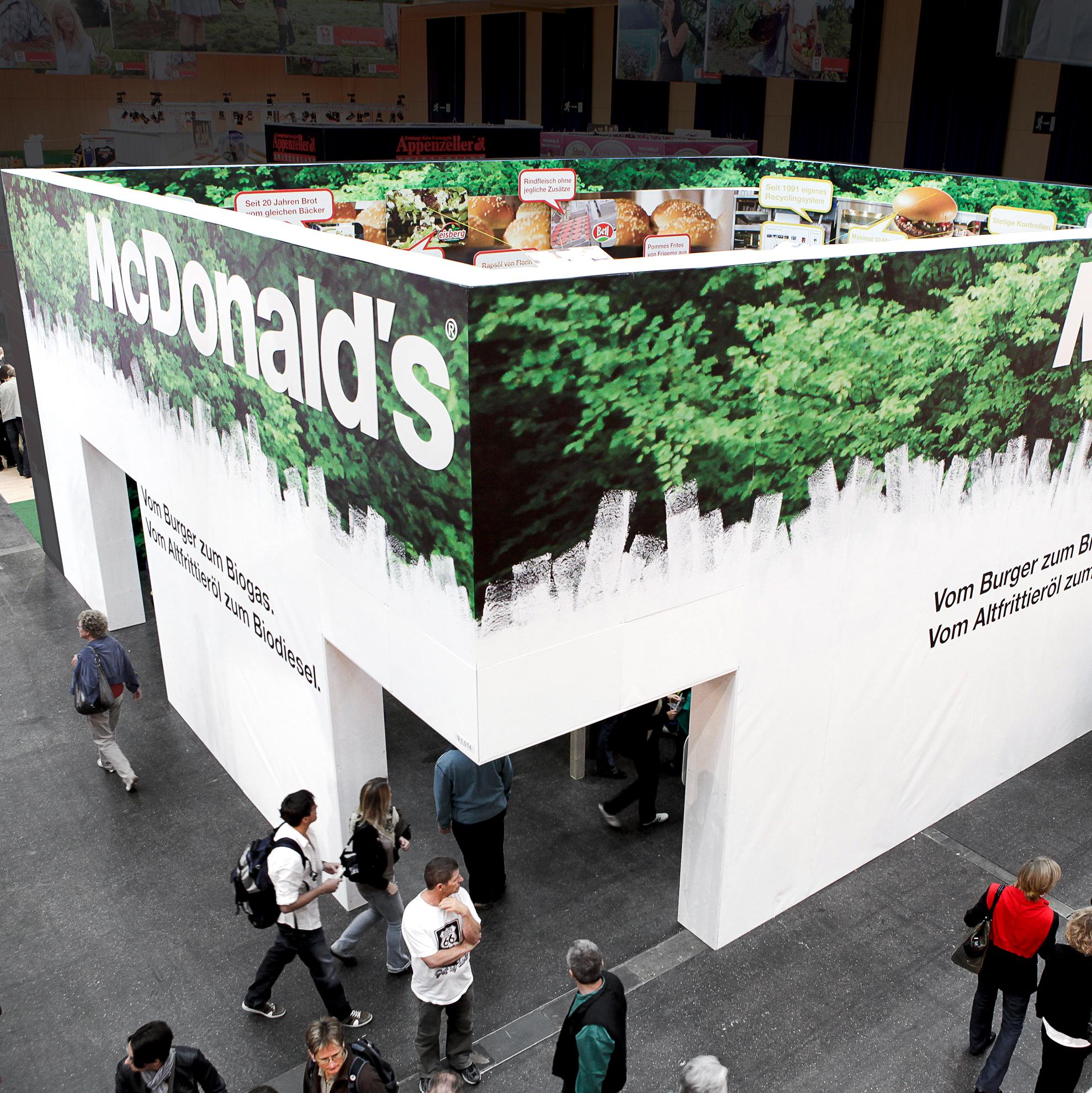 McDonald's Messekonzept Ansicht von oben