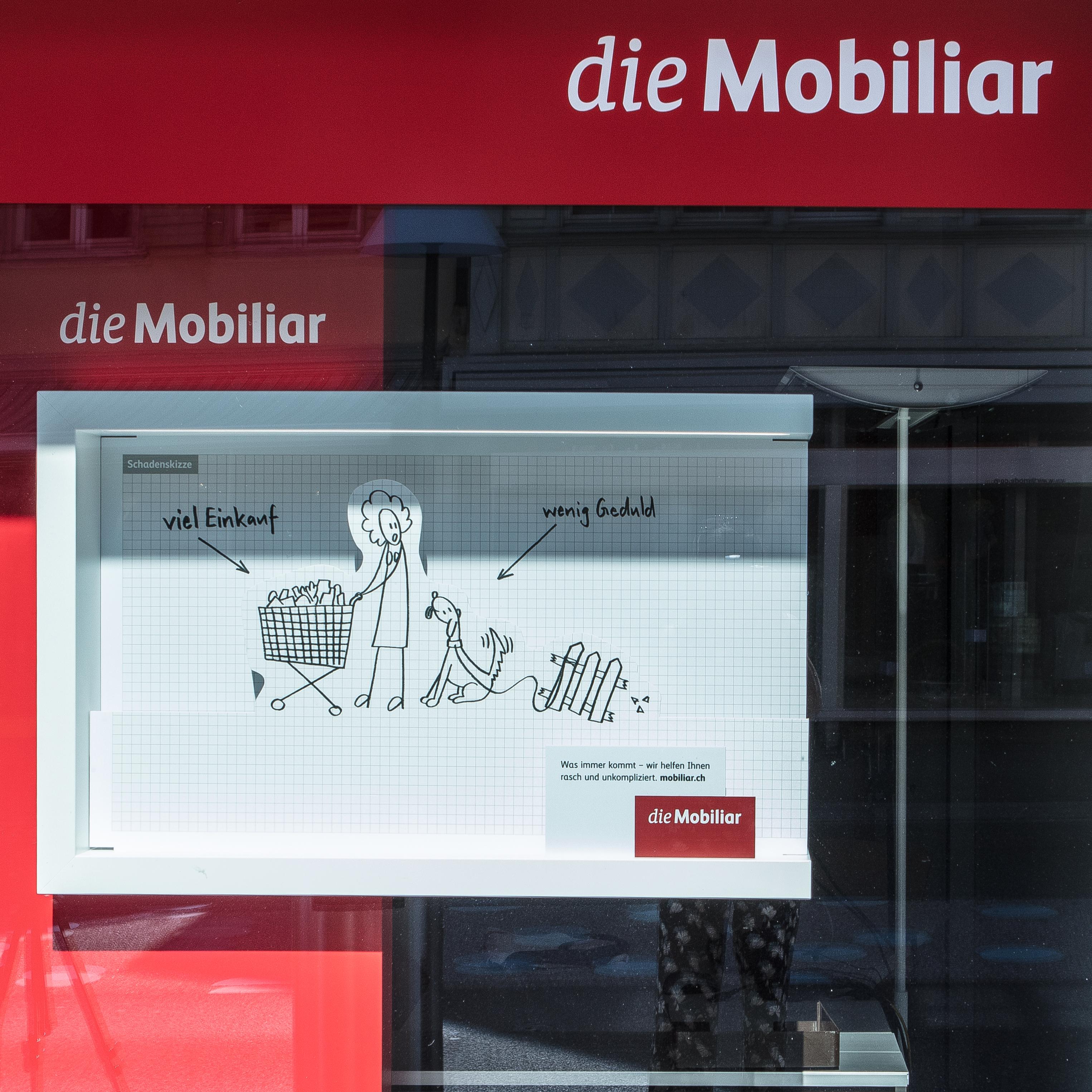 die Mobiliar Schaufenstergestaltung