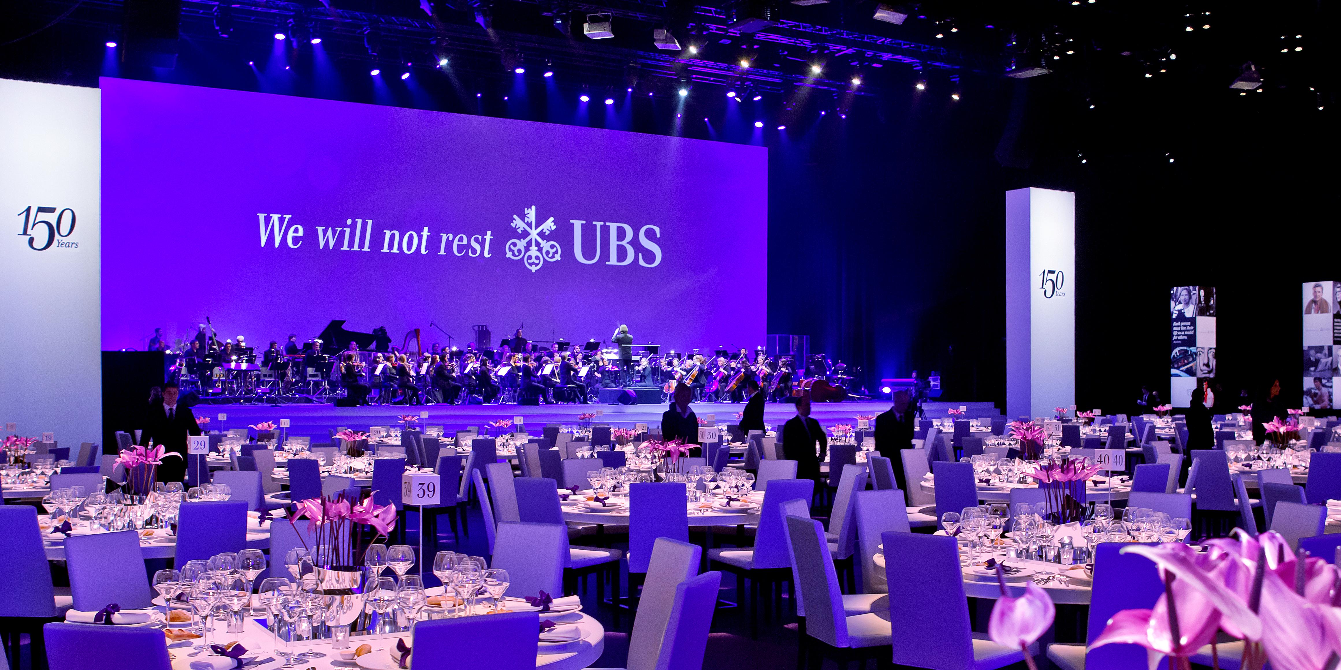 UBS 150 Jahre Jubiläum Bühne