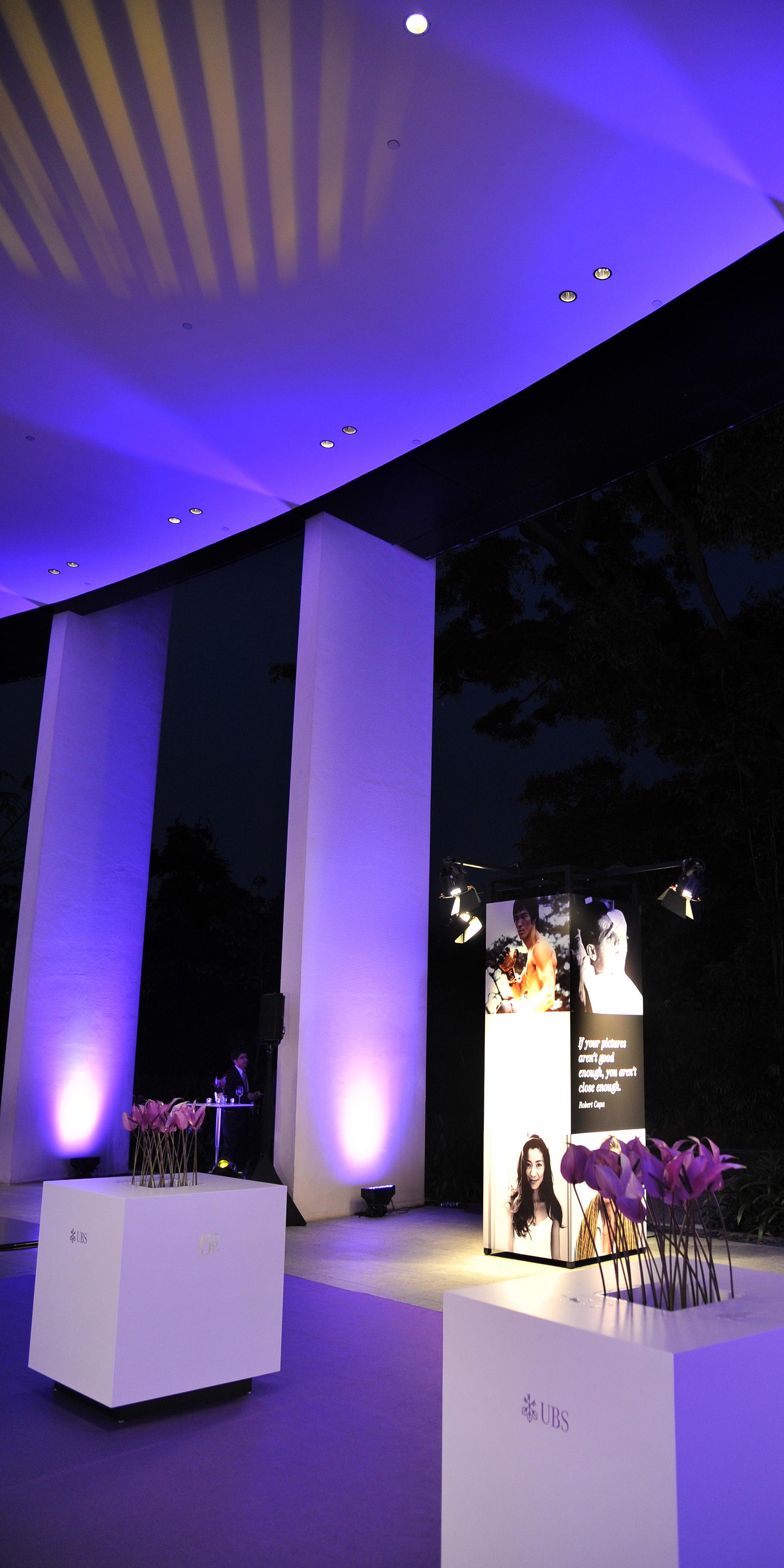 UBS 150 Jahre Jubiläum Singapur Dekoration Licht