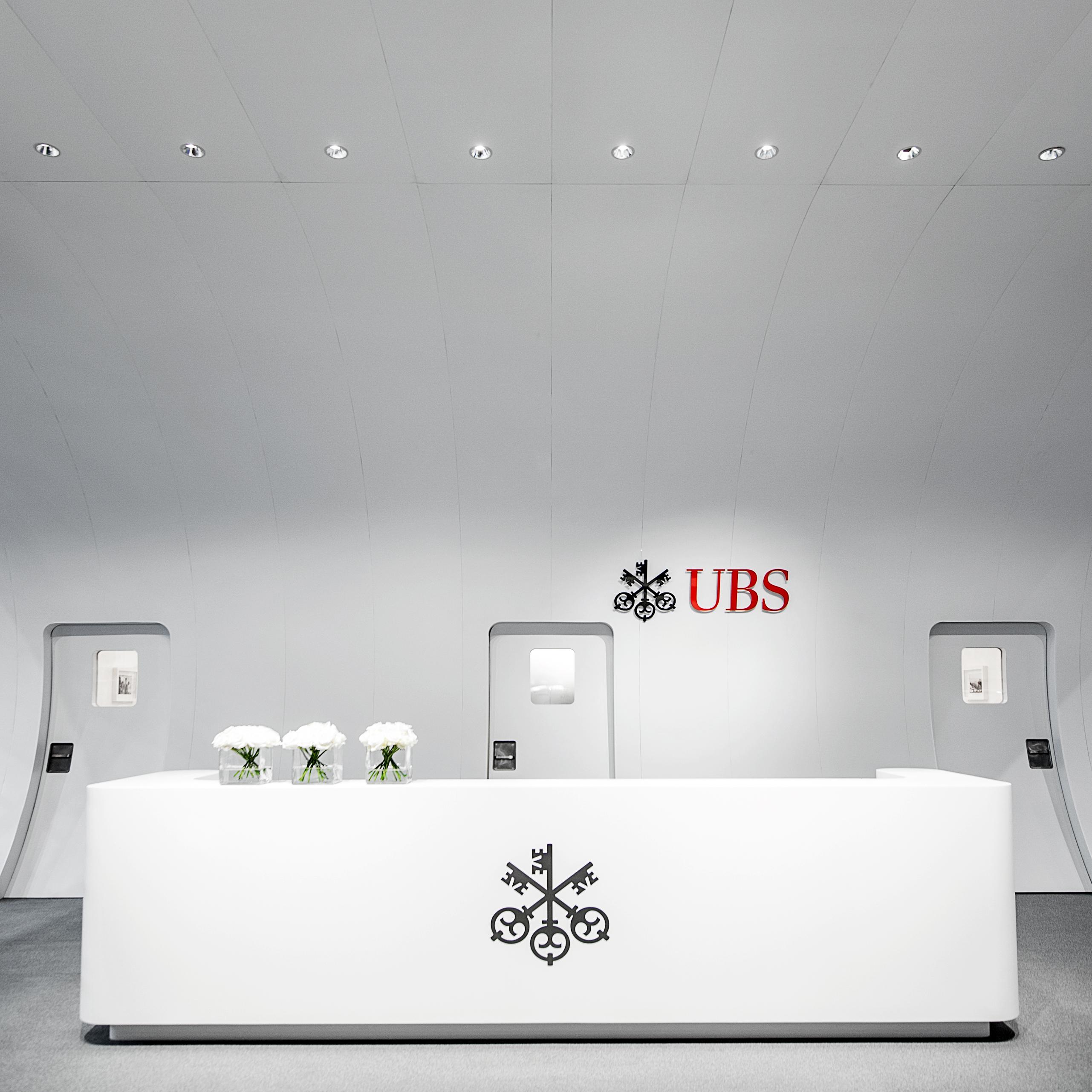 UBS Ebace Messekonzept Vorderansicht