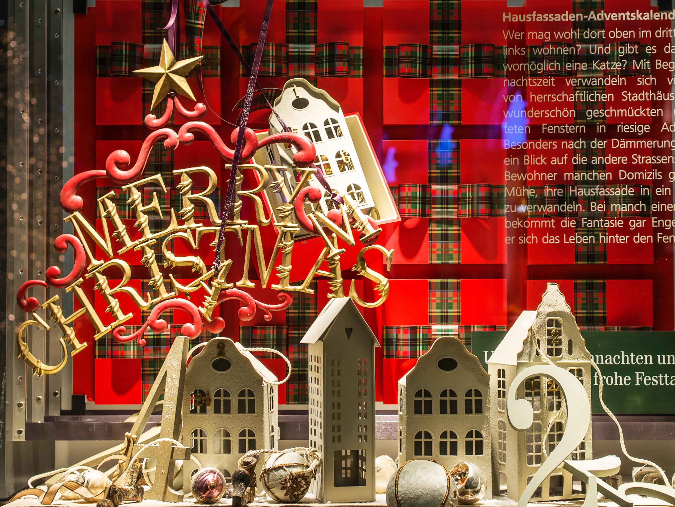 UBS Switzerland Weihnachtsdeko Paradeplatz