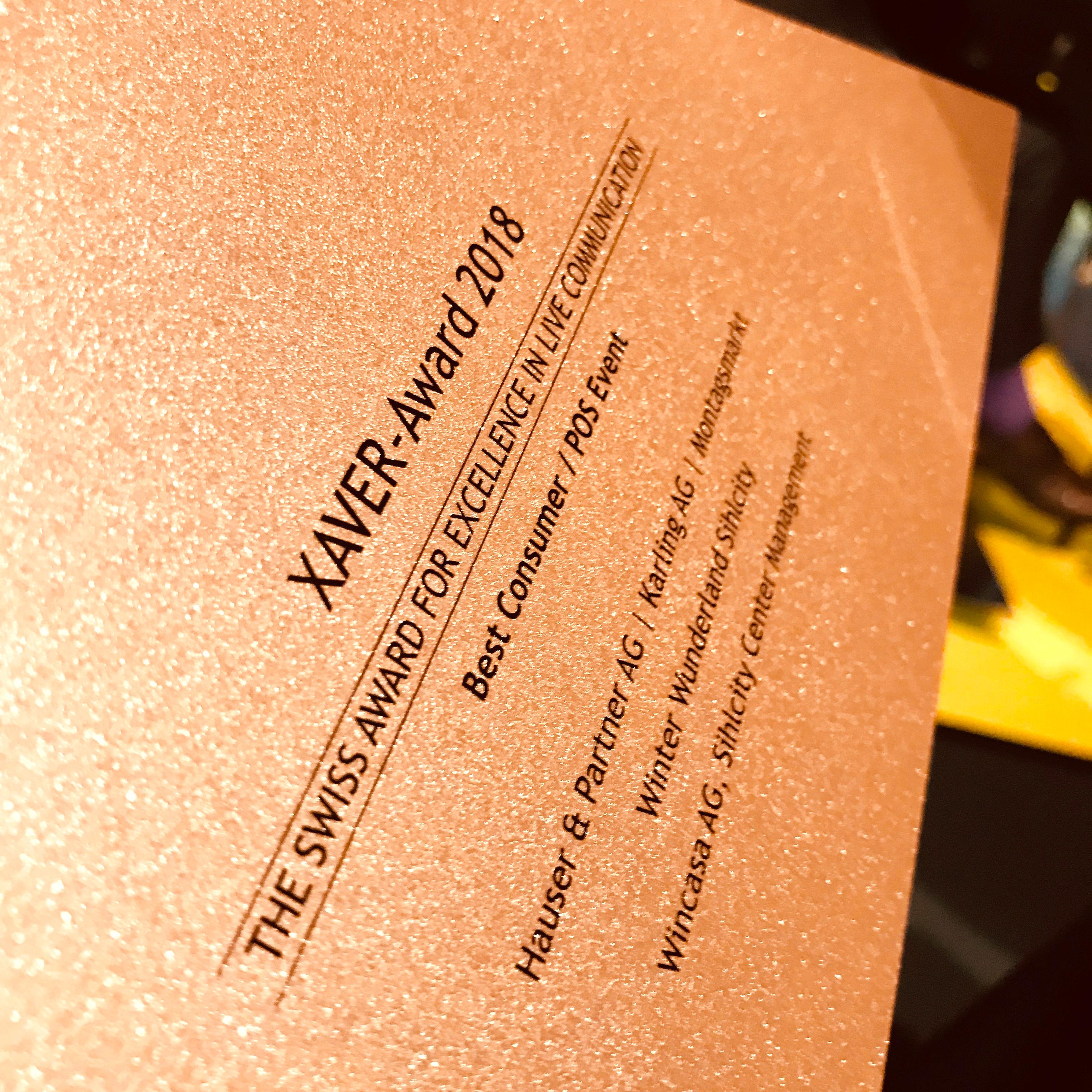 Xaver Award Bronze