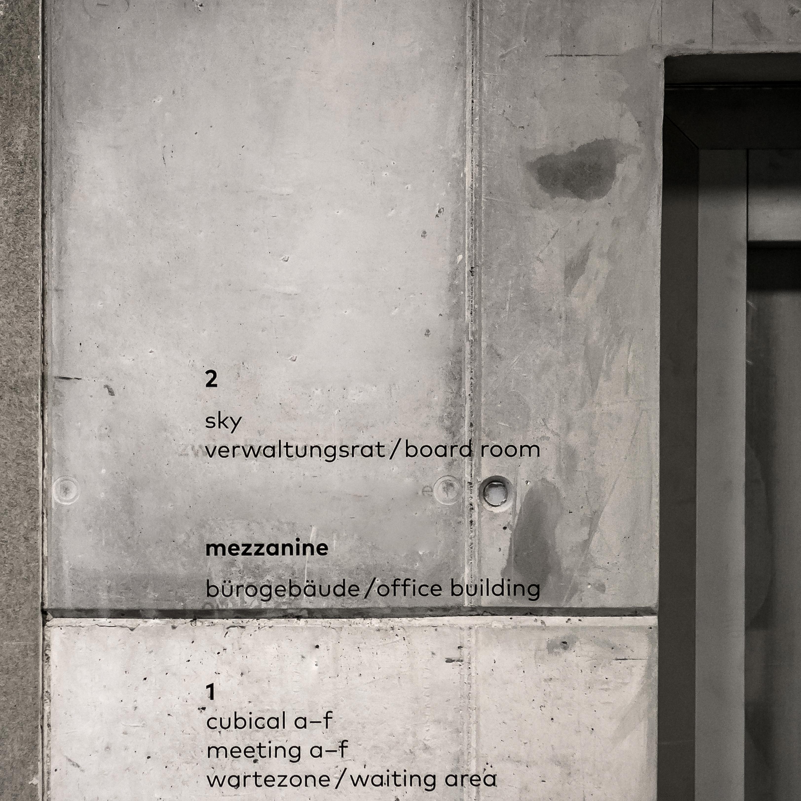 Dormakaba Begegungszone Signaletik Wand