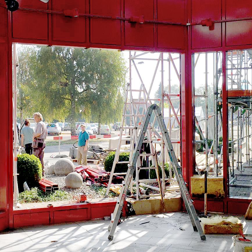 YAMAHA Sursee Umbau Baustelle