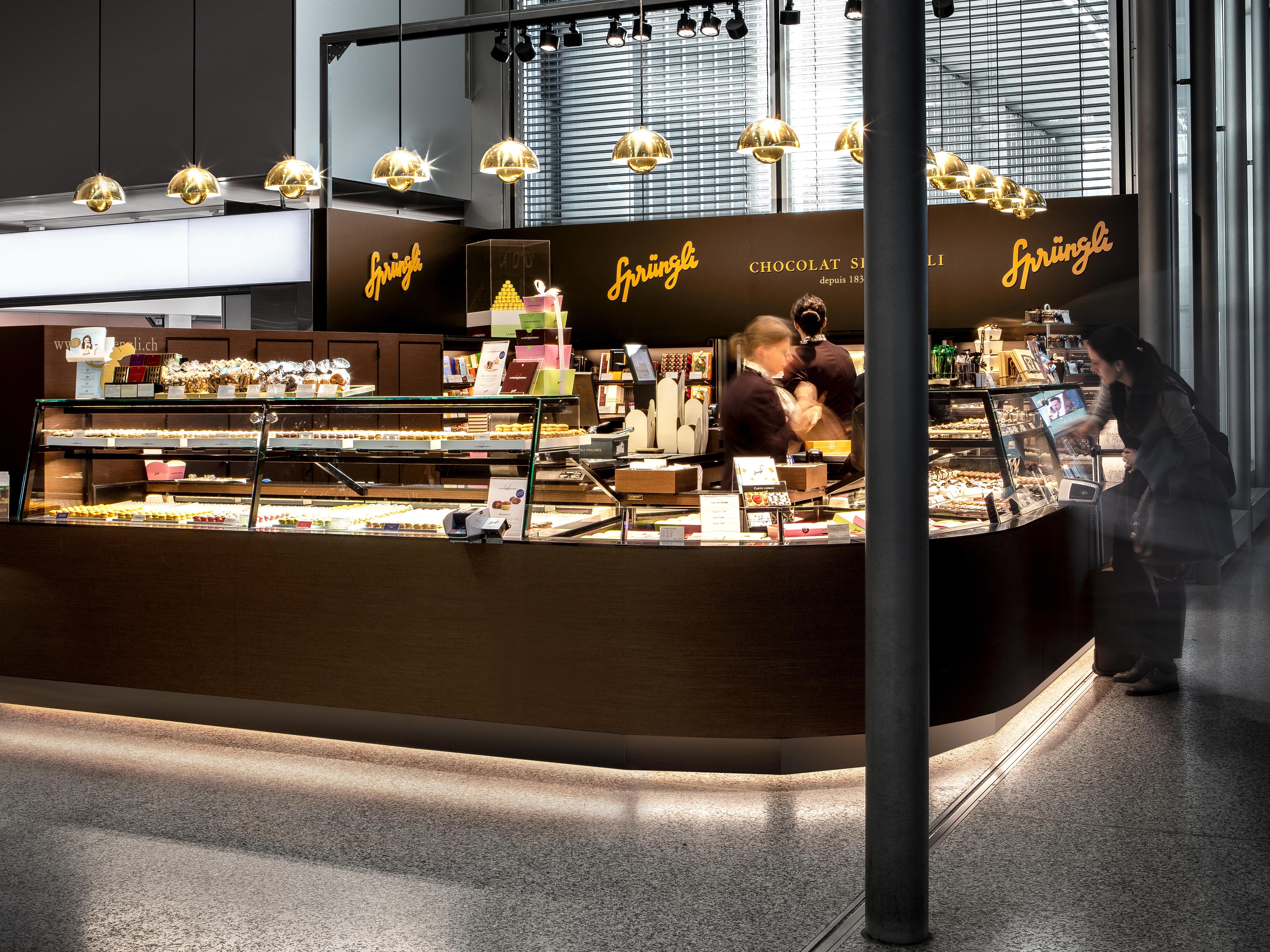 Spruengli Flughafen Genf Ladengestaltung