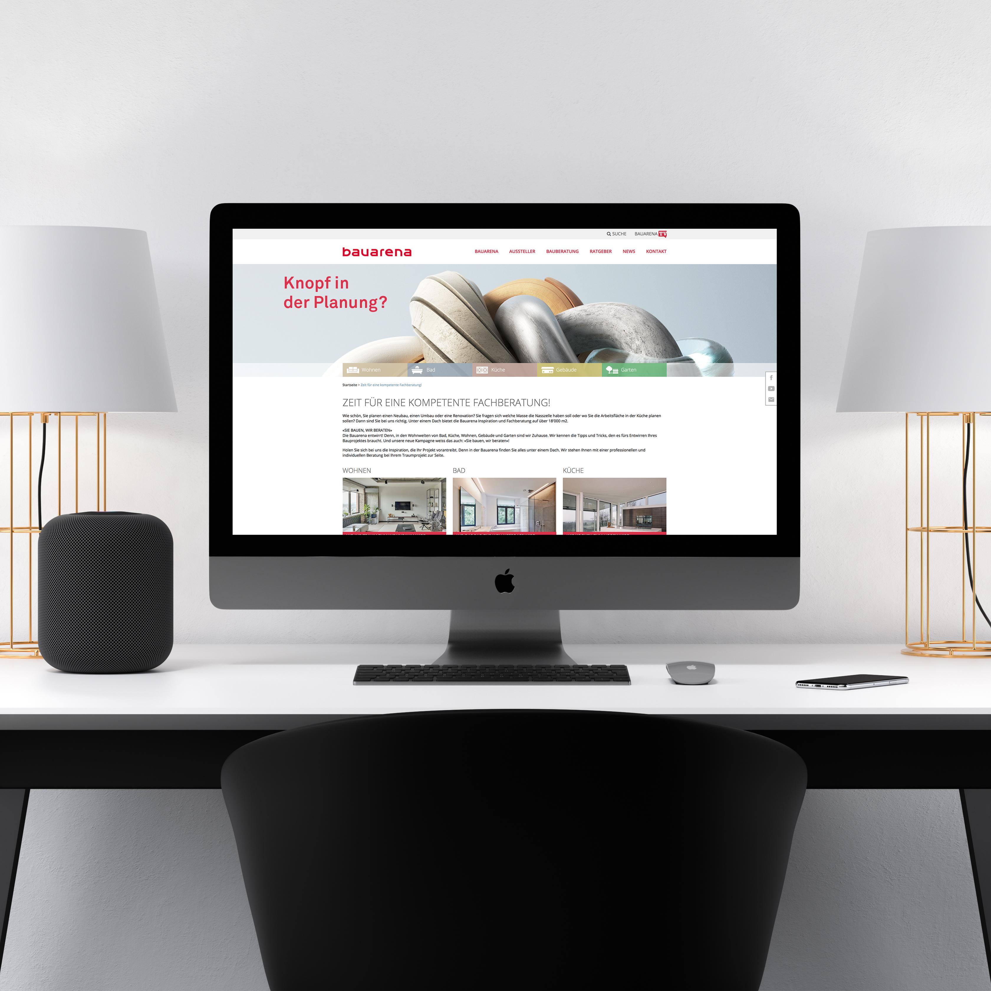 Bauarena Mockup Desktop
