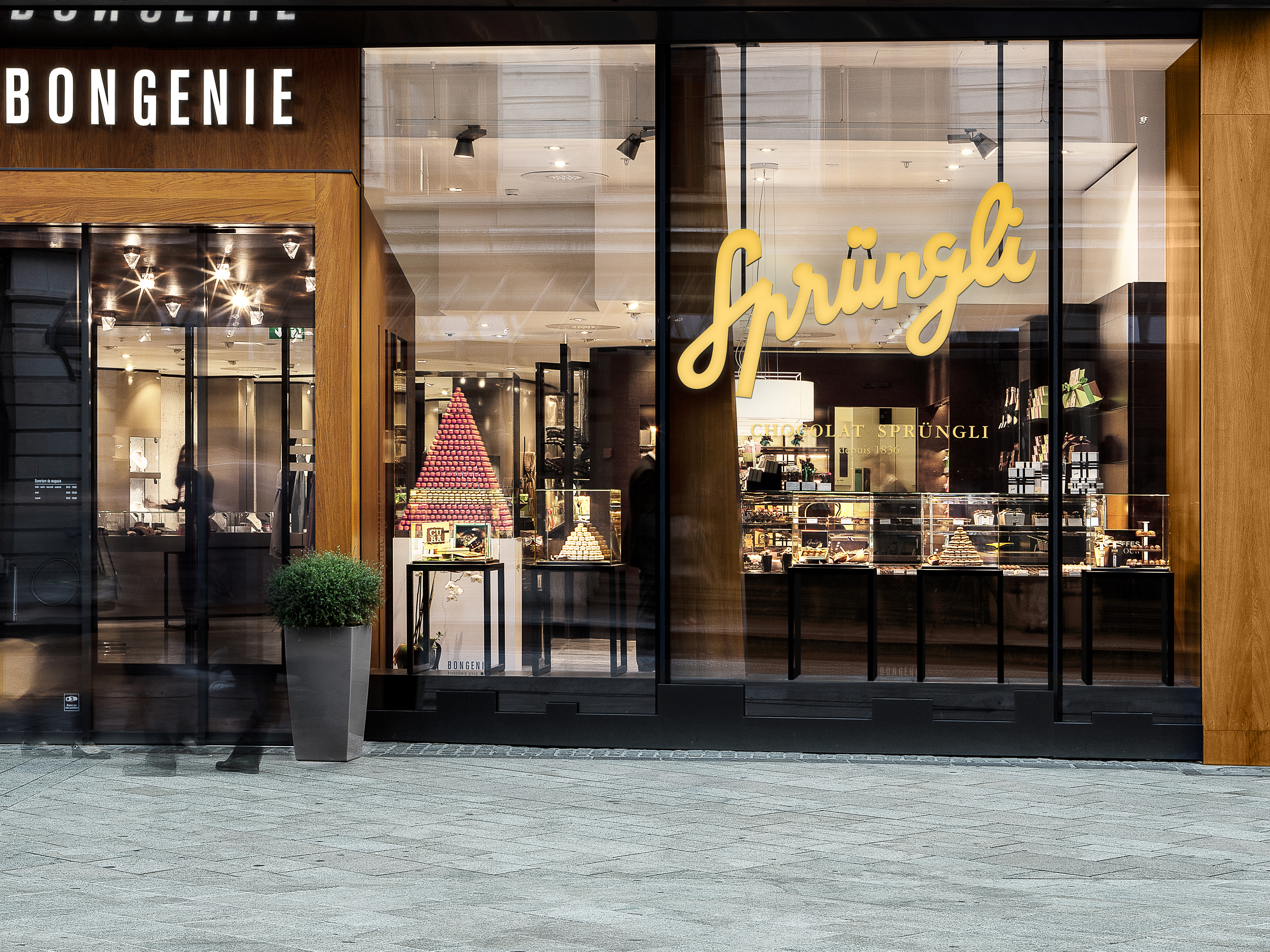 Sprüngli Schaufenster Genf