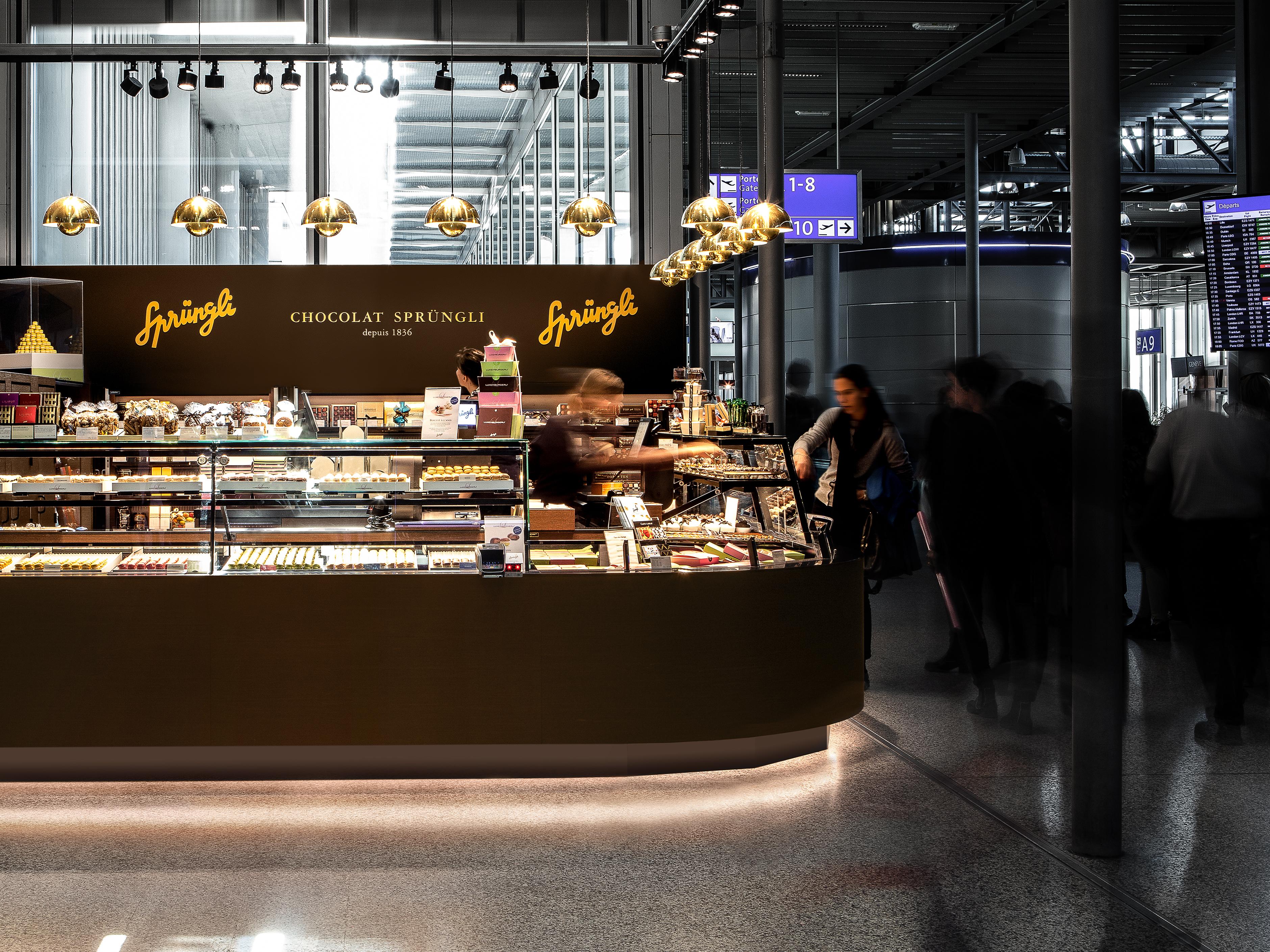 Spruengli Flughafen Genf