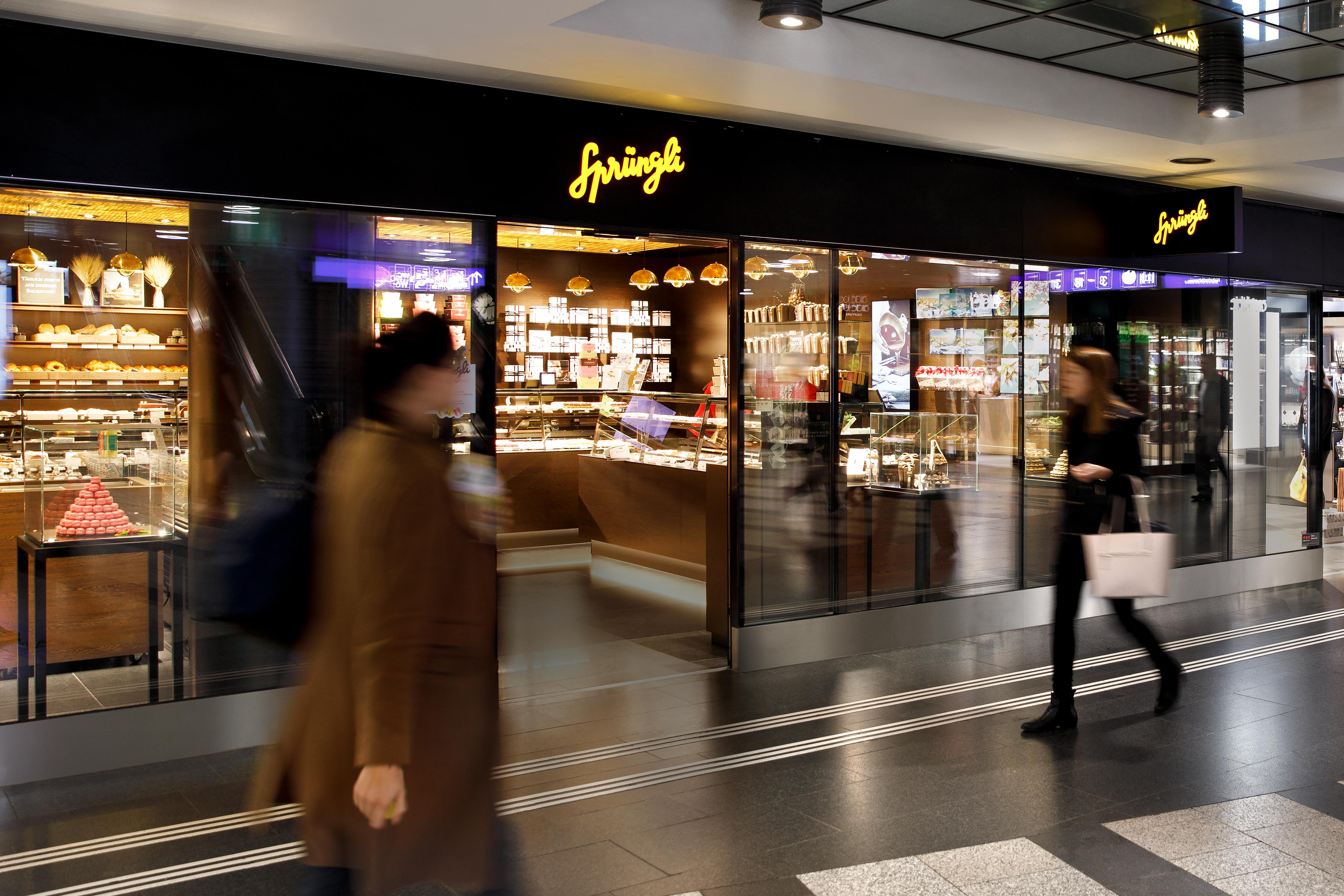 Confiserie Sprüngli Filiale Zürich HB Retail Design