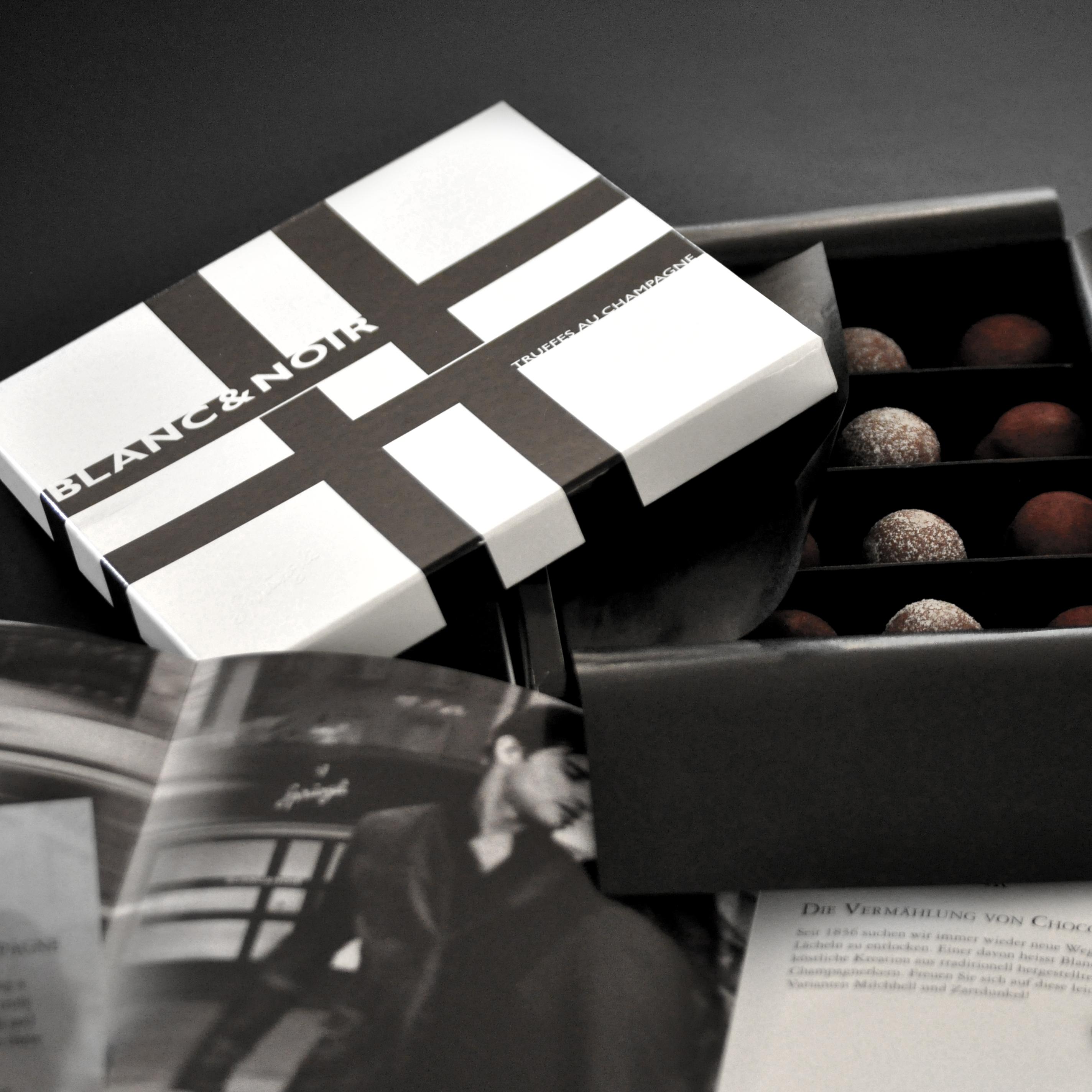 Confiserie Sprüngli Verpackungsdesign Blanc&Noir