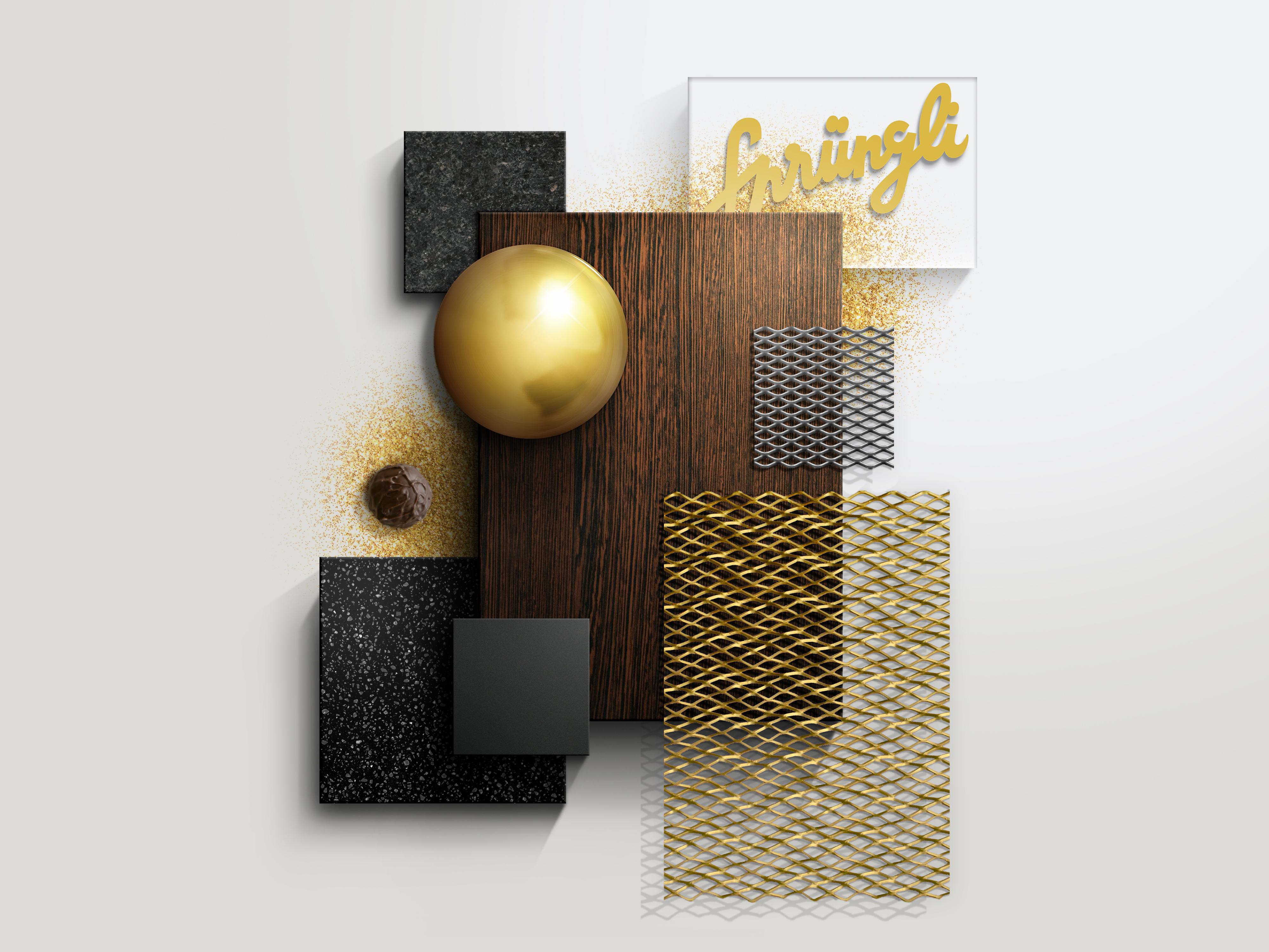 Confiserie Sprüngli Materialisierung Storedesign